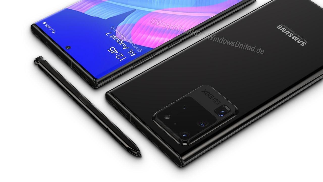 Samsung galaxy note 20 conceito