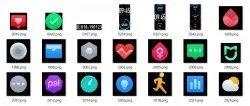 xiaomi mi band 5 icones