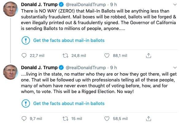 mensagens de donald trump no twitter