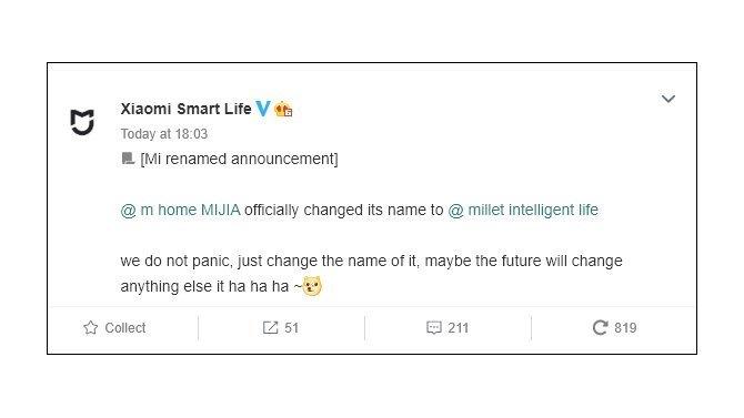 comunicado da Xiaomi sobre alteração