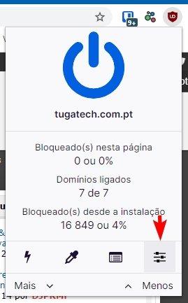 ublock configuraçõies