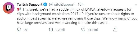 twitch alerta pedidos dmca