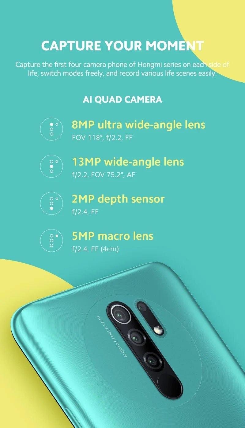 sistema câmaras redmi 9
