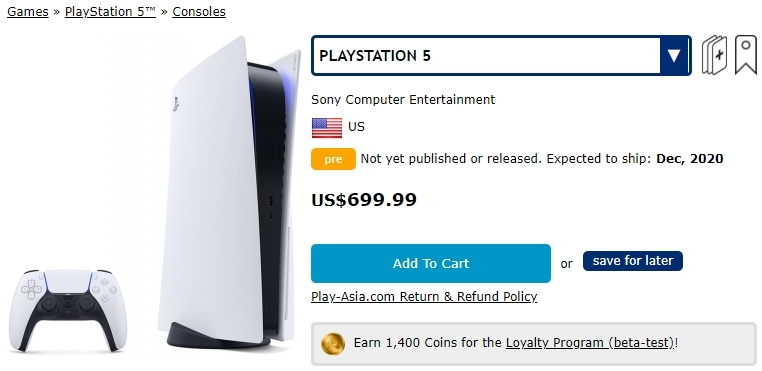 PlayStation 5 preço