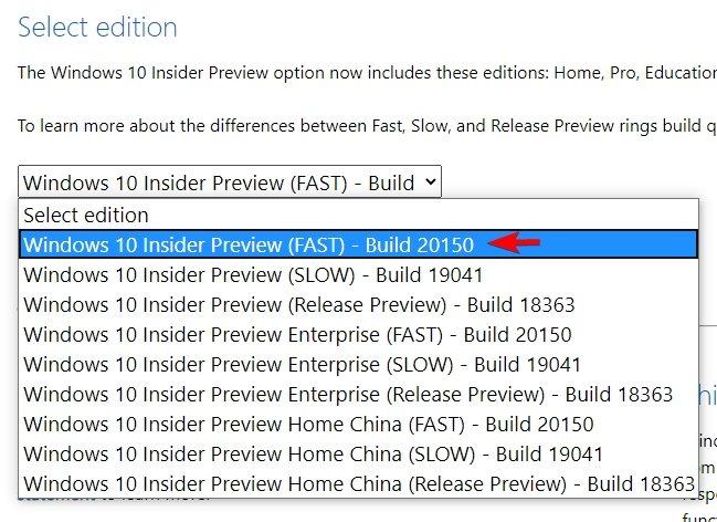 Windows insider teste iron