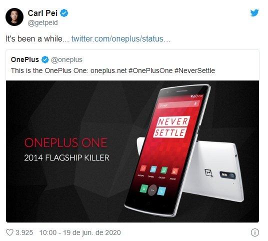 twitter possível preço OnePlus z