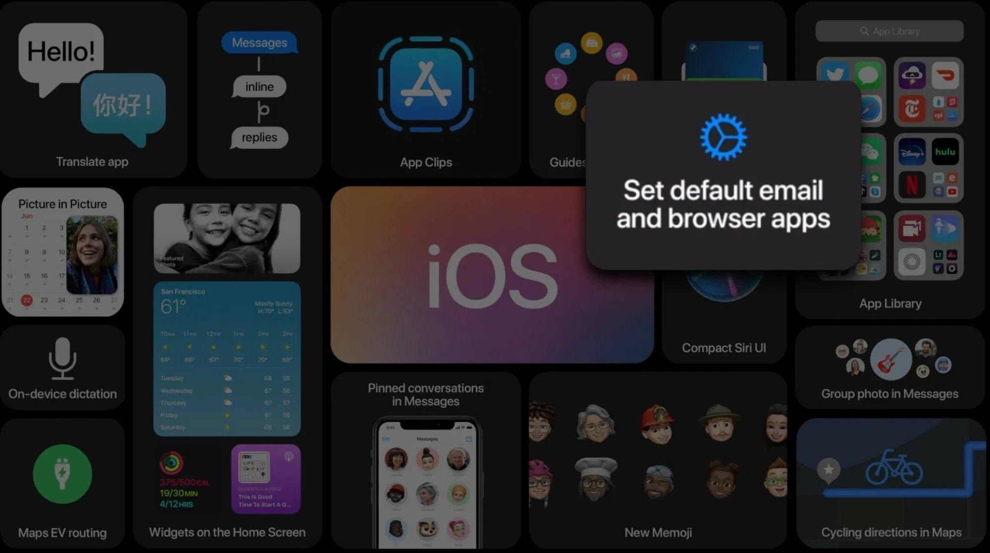 iOS 14 apps padrão