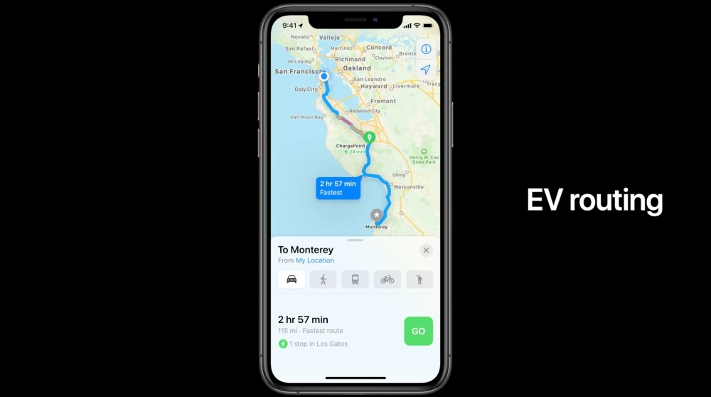 Apple maps EV