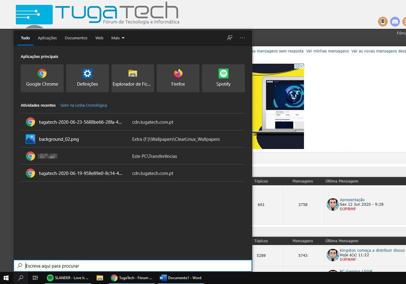 windows 10 pesquisa