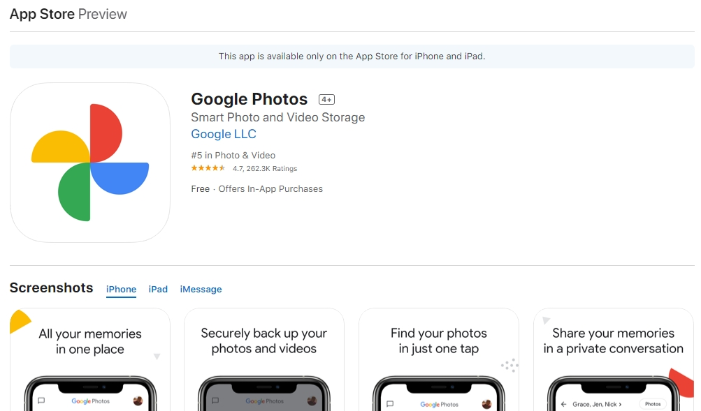 novo ícone google fotos ios