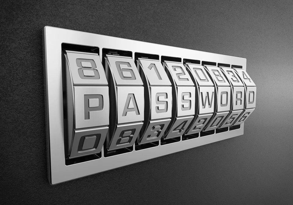 Imagem de password em codigo