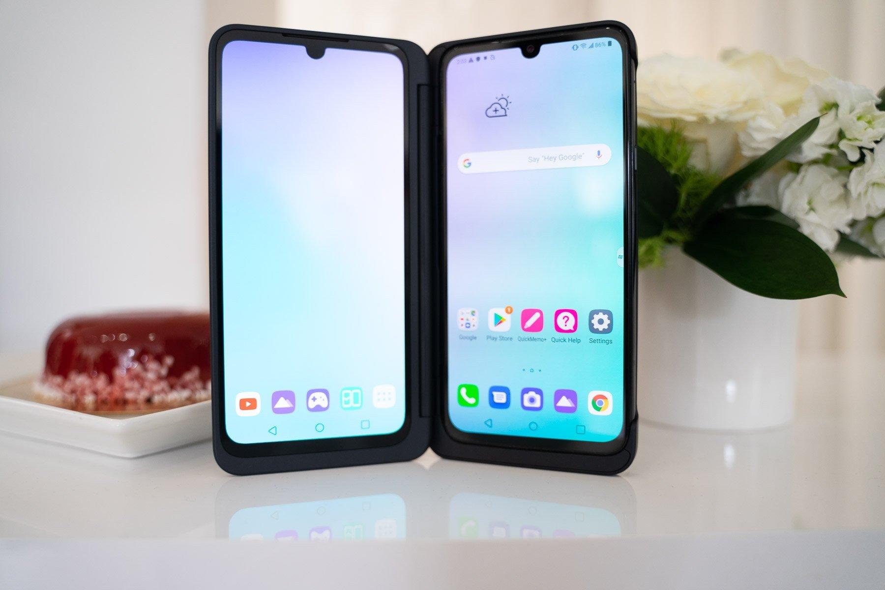 LG smartphone dois ecrãs