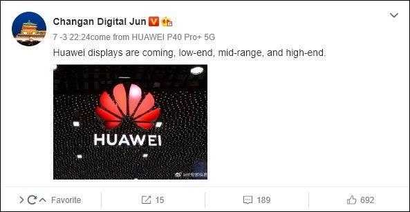 imagem da mensagem na Weibo com rumores