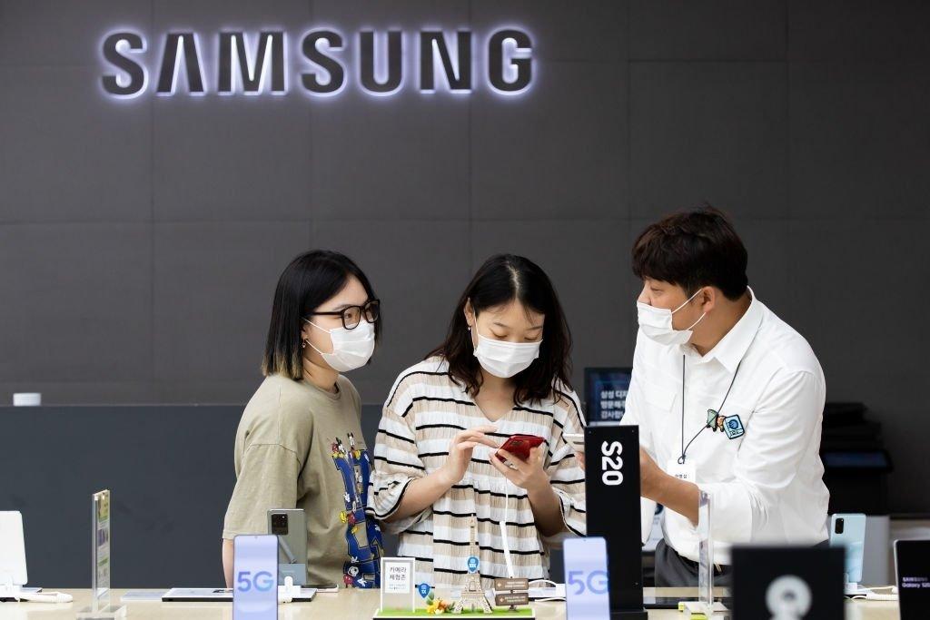Samsung loja funcionários
