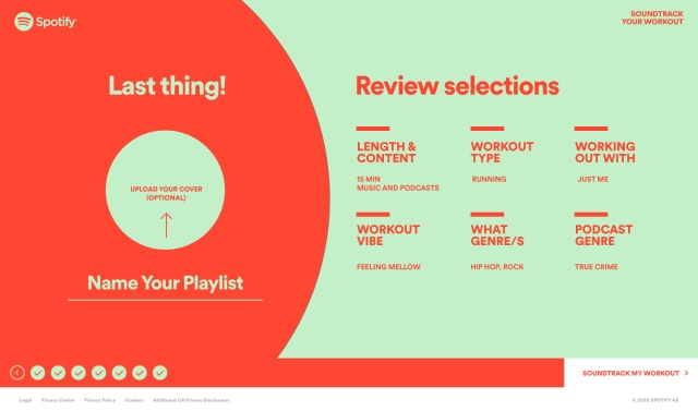 Spotify playlist exercício físico