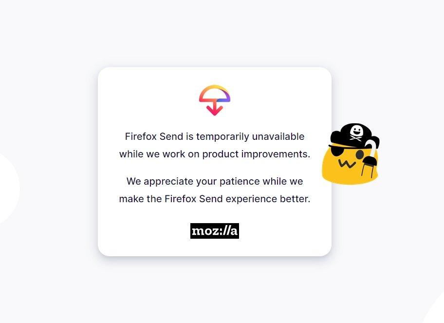 Firefox send suspenso