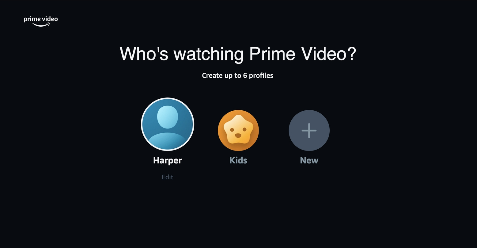 perfis Amazon prime video