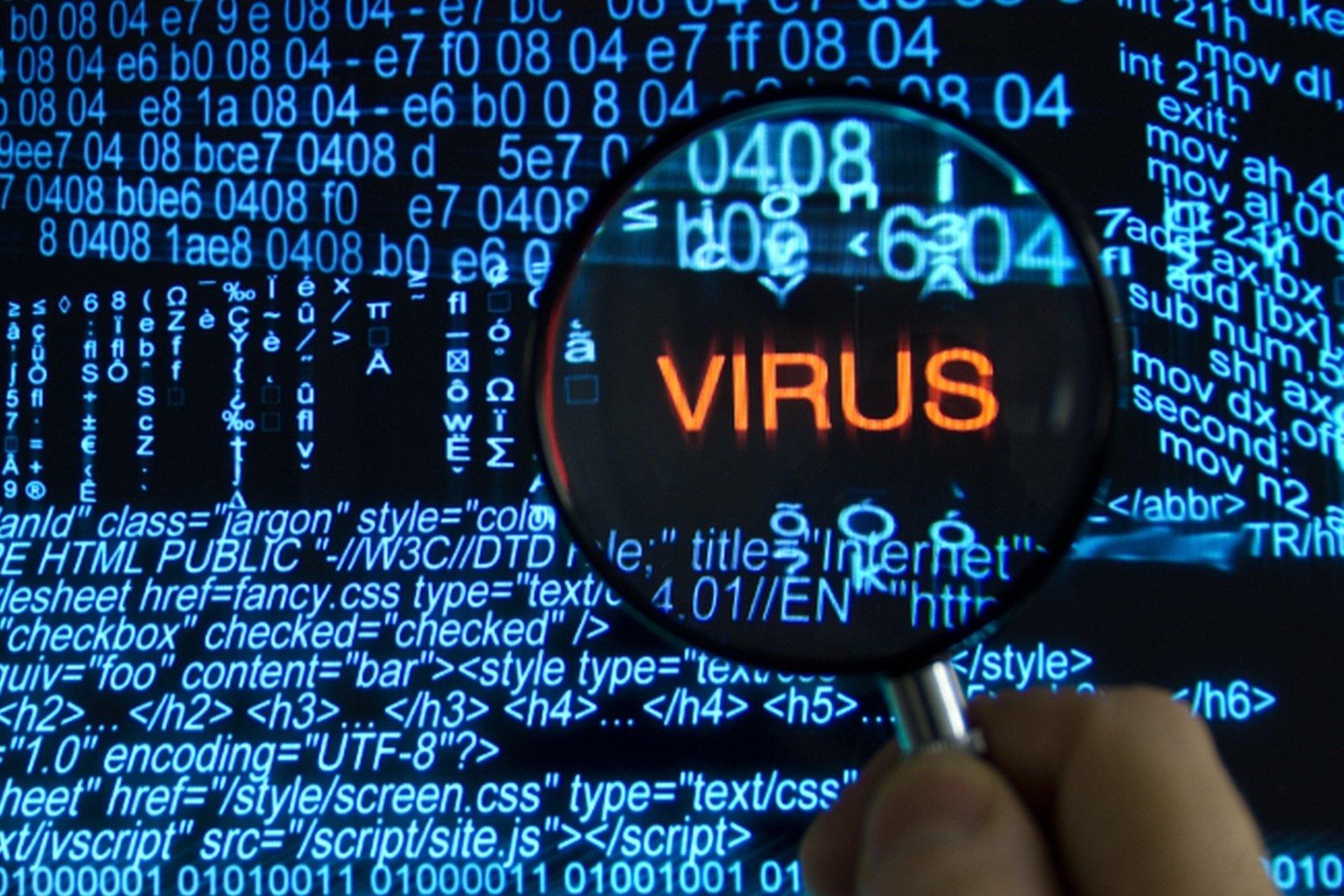 imagem de vírus digital