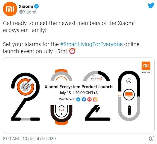 confirmação evento xiaomi
