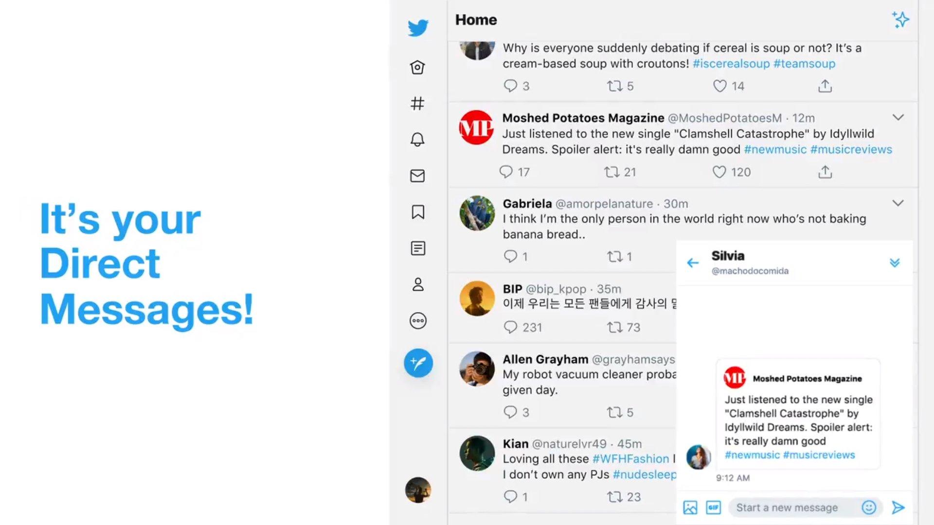 Twitter mensagens diretas