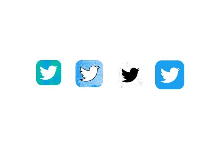 Twitter ios icones