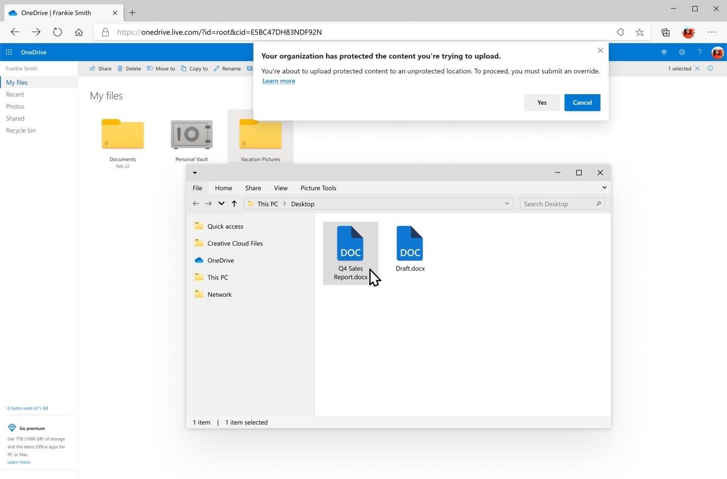 Explorador de ficheiros no Windows 10