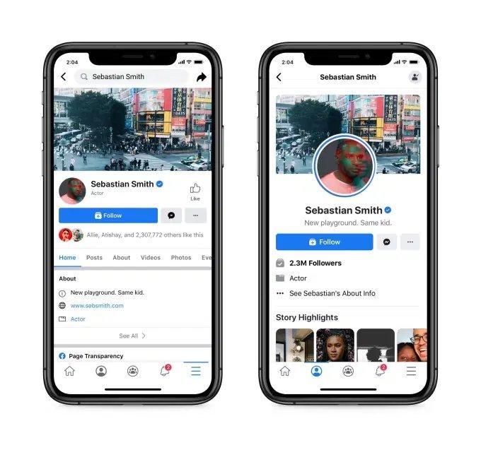 Facebook novo design