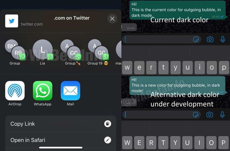 WhatsApp interface ios