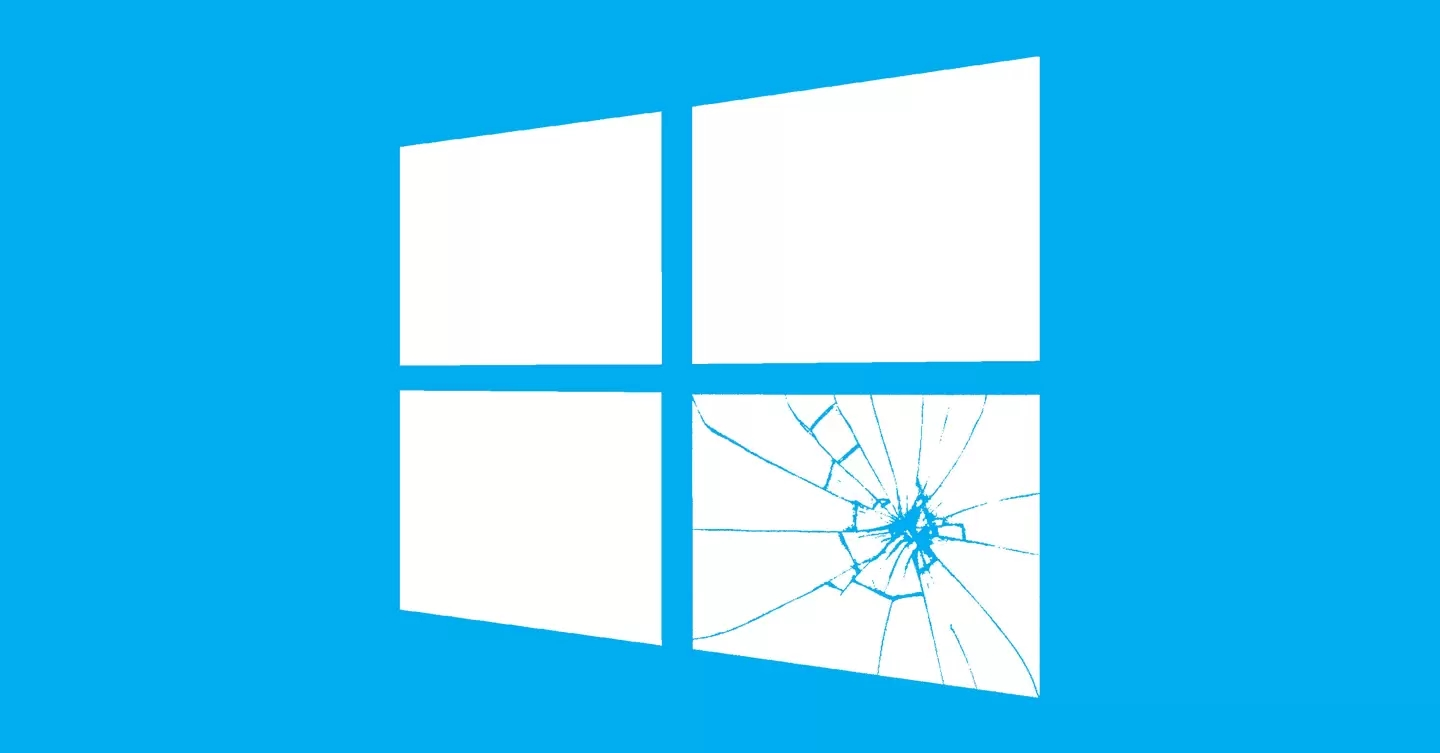 Windows 10 window broken