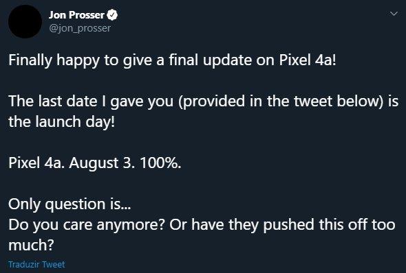 google pixel 4a agosto