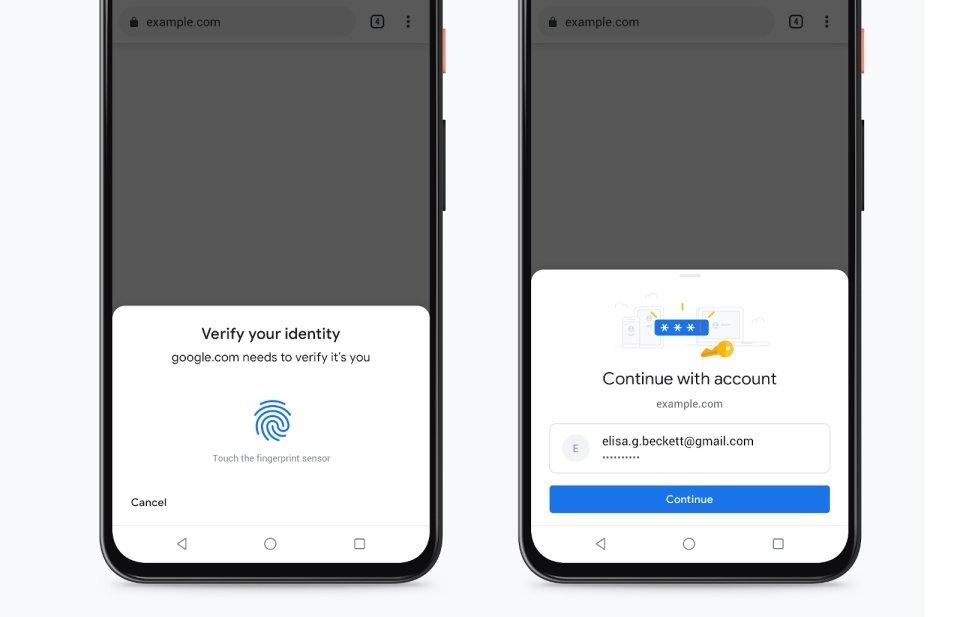 Google Chrome autenticação cartão de crédito