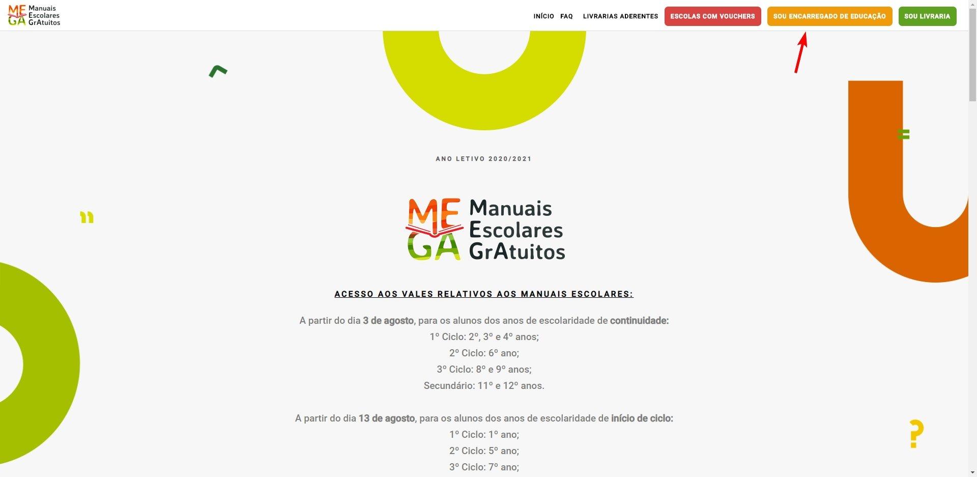 plataforma acesso encarregado de educação