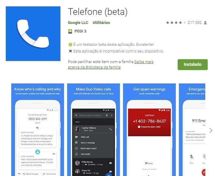 App google telefone