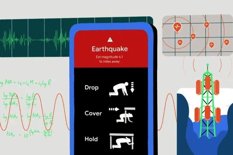 Android sismos deteção