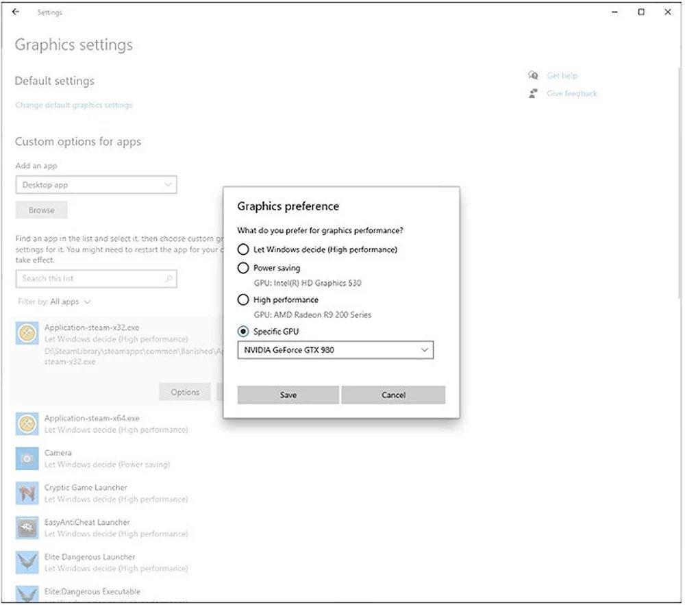 definições do windows 10