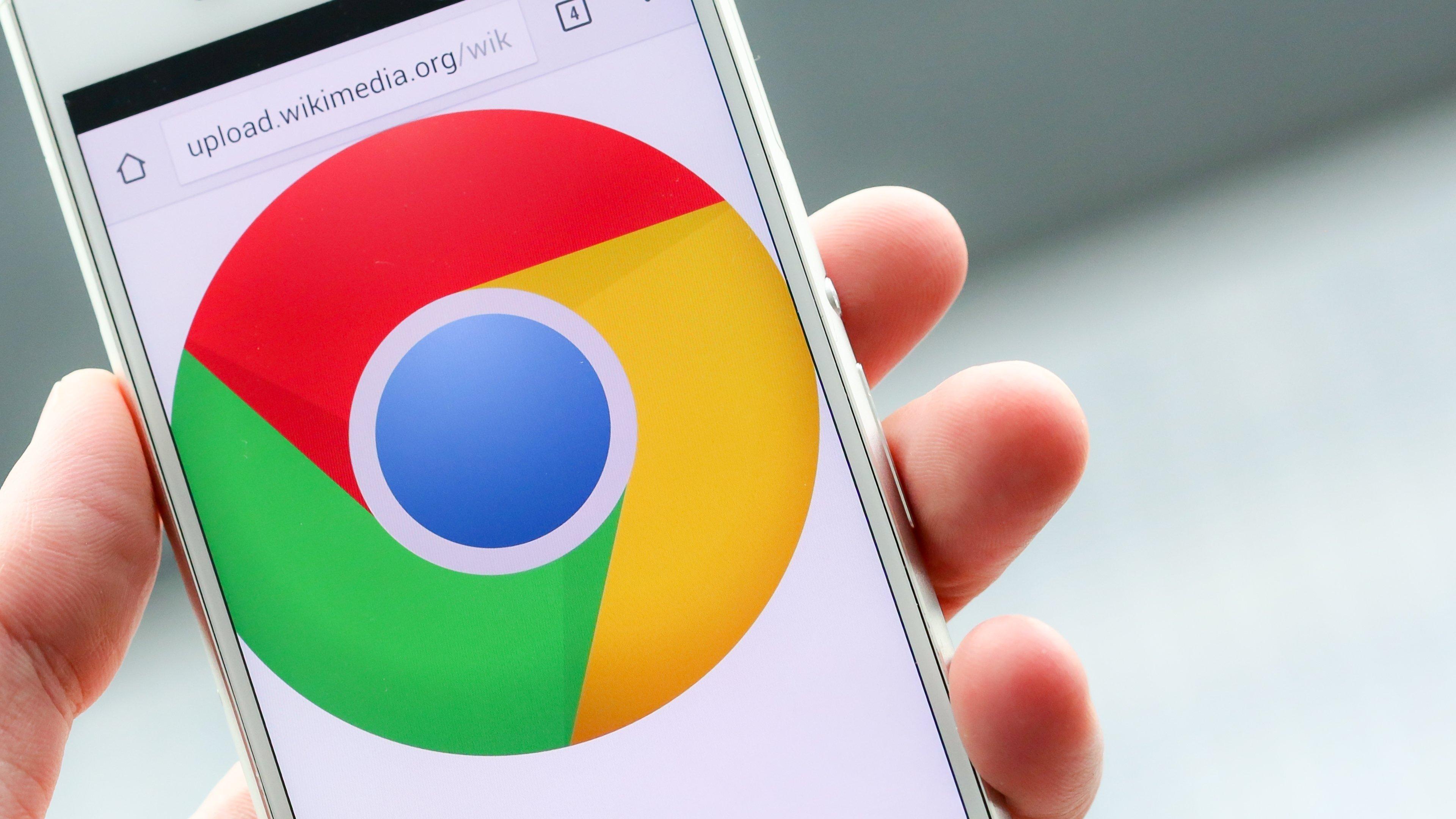 Google chrome smartphone