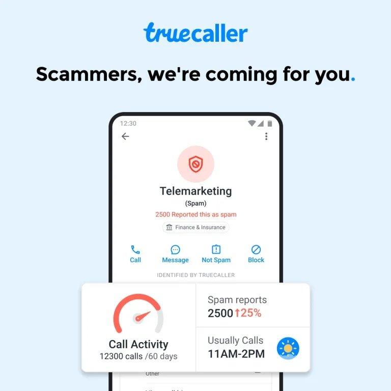 truecaller spam atividade
