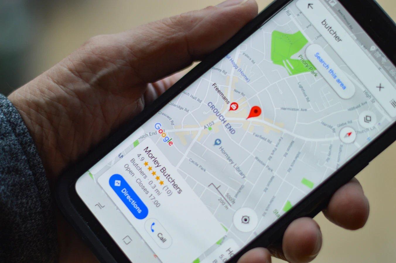 Google Maps aplicação