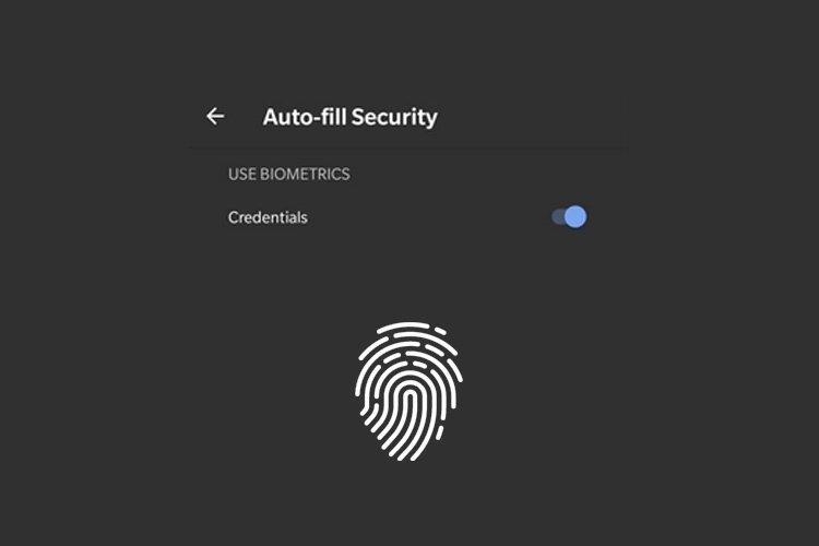 Chrome autenticação biométrica