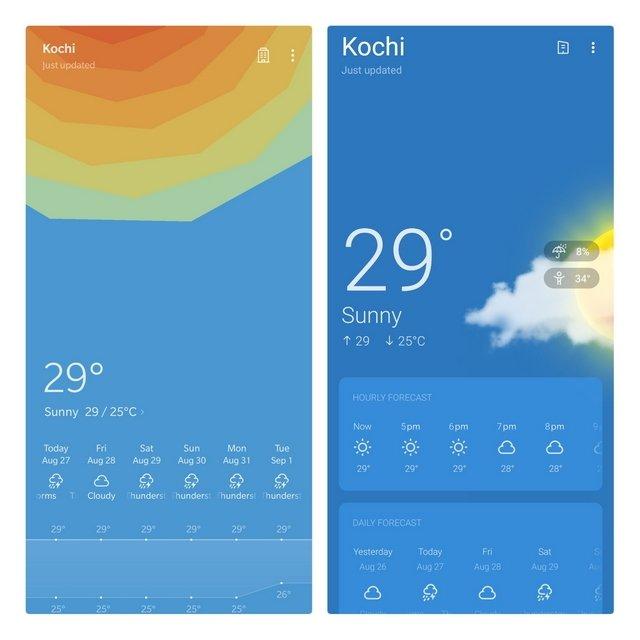 app meteorologia OnePlus novo beta