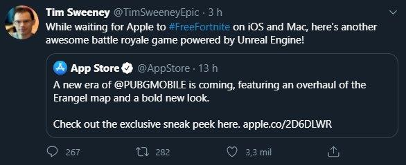 ceo da epic games a promover pubg