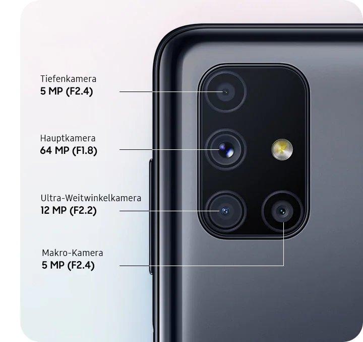 câmaras samsung galaxy m51