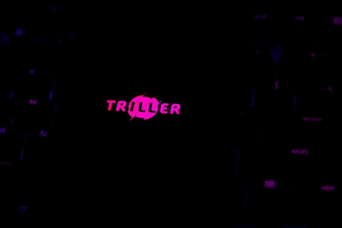 Triller logo sobre teclado