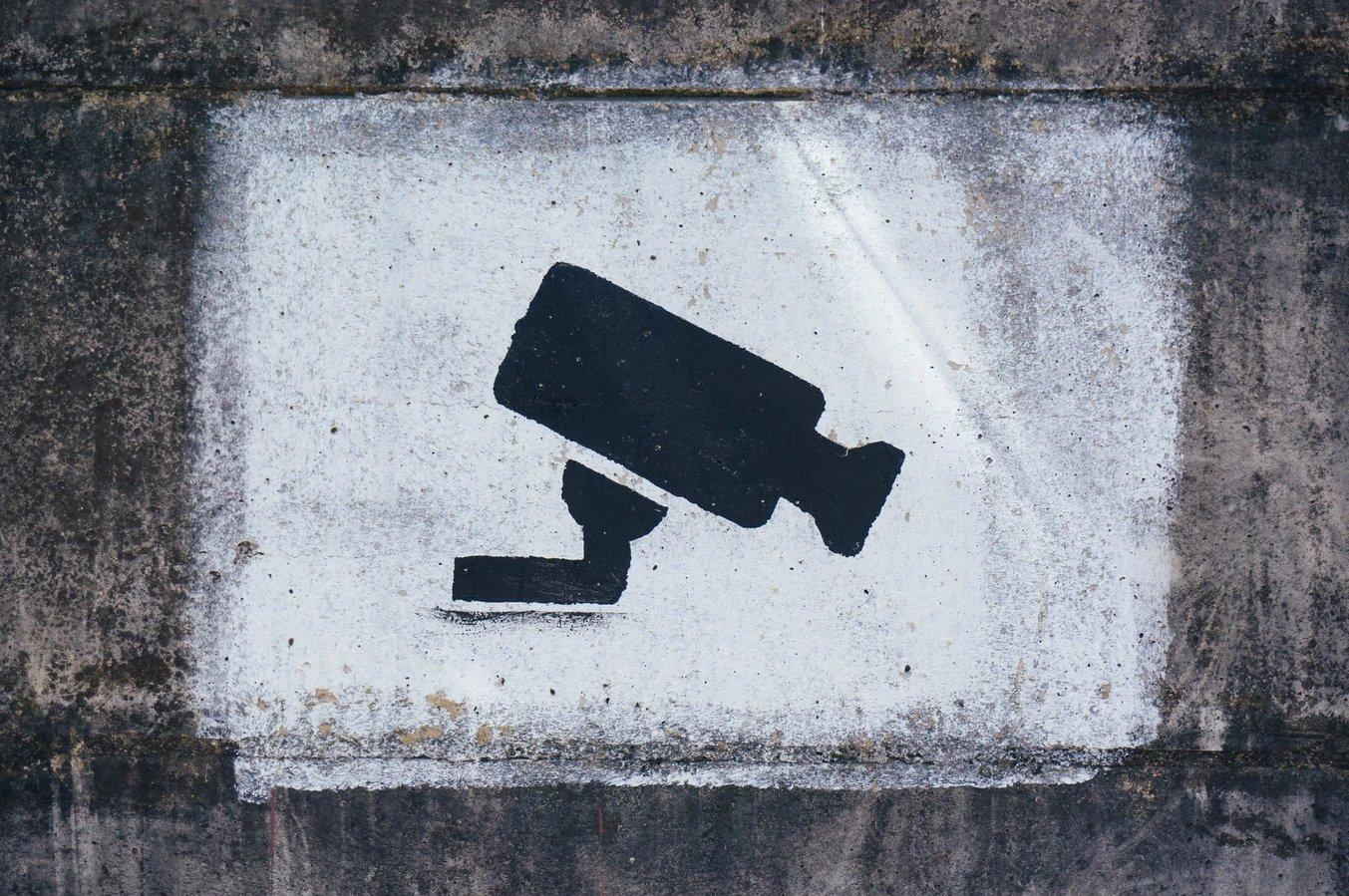 privacidade com câmara na parede