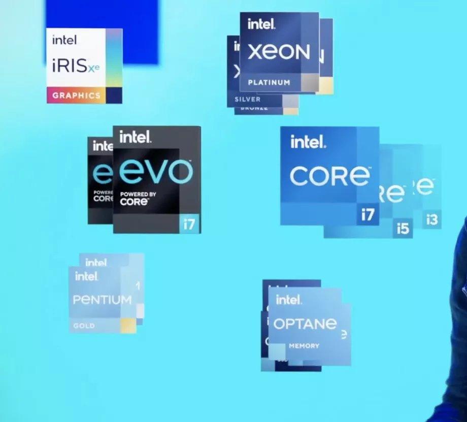 logos da intel em produtos