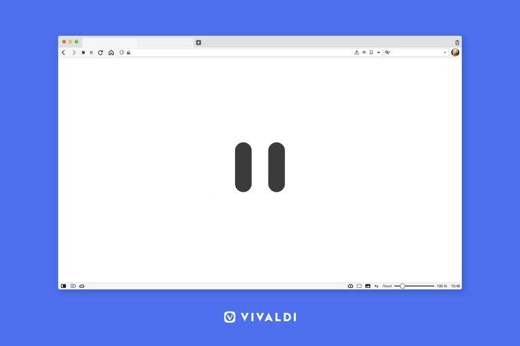 Vivaldi modo pausa