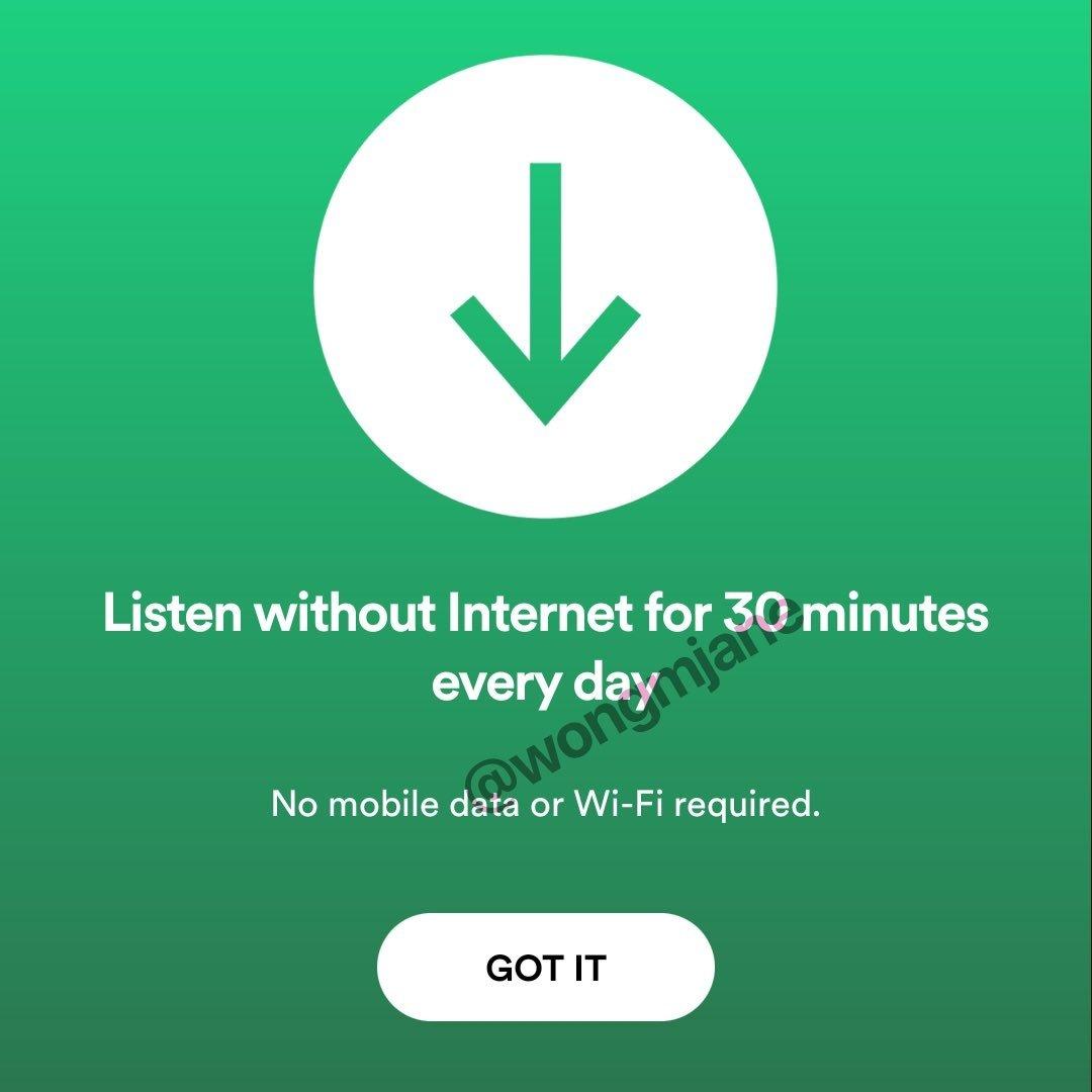 modo offline spotify free