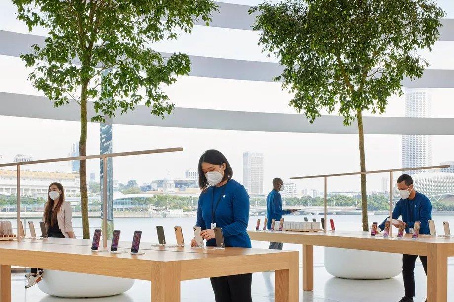 interior loja apple