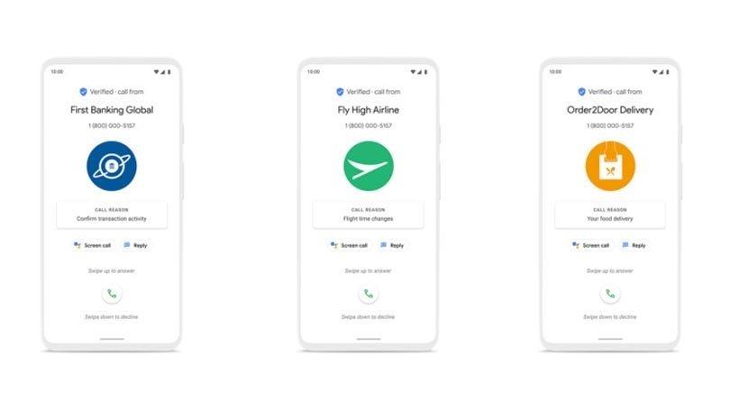 Google chamadas verificadas