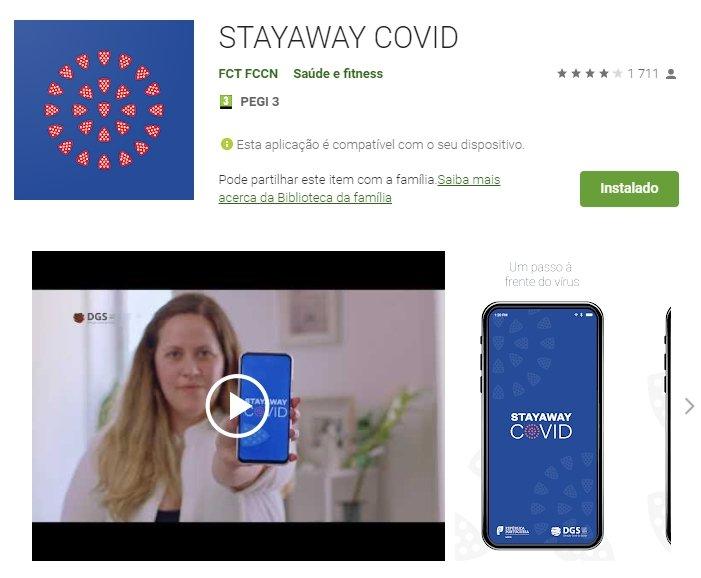 aplicação certa stayaway covid